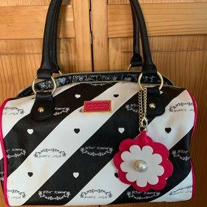 Betsey Johnson Black & White Handbag